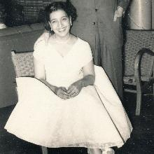 Hannah Hobsbaum seated, with her husband Philip behind her